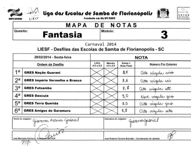 ",'  __ ,!;' liga dal EICOIGI de Samba de rlorianOpolil L ( f: ~ f  SANTA CATARINA  SLCH£: tAntA 1'.-t tJ N IC tf""Al Pf: TU..."