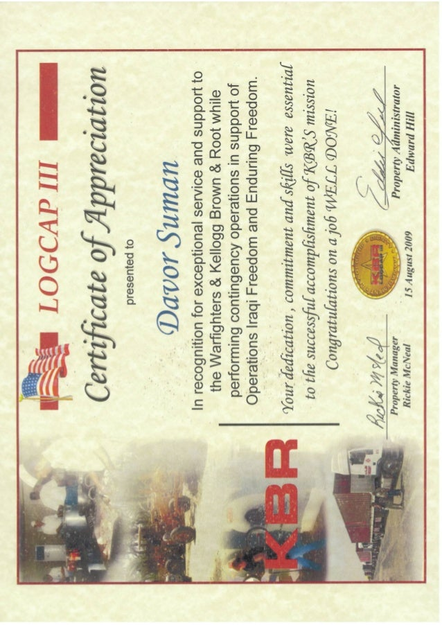 Certificate Of Appreciation 2009 Greenzone