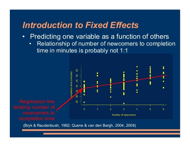 Introduction to Fixed Effects • Predicting one variable as a function of others • Relationship of number of newcomers to c...