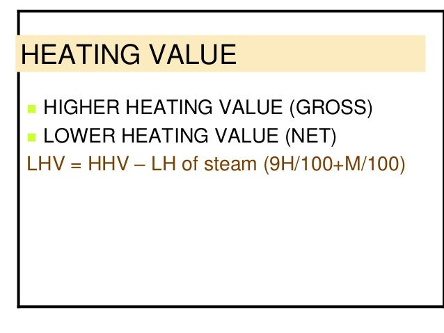 Gross Heating Value Of Natural Gas Calculation