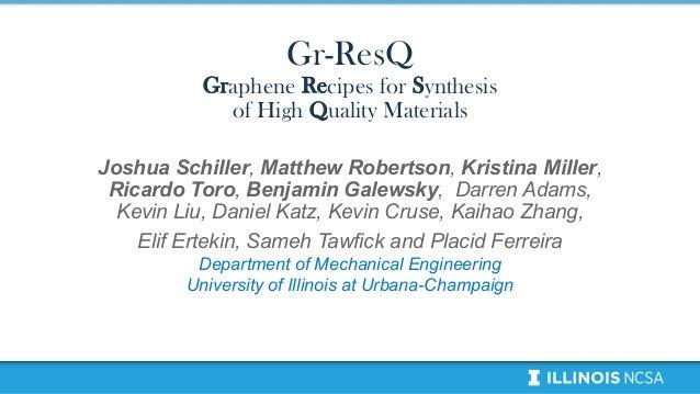 Joshua Schiller, Matthew Robertson, Kristina Miller, Ricardo Toro, Benjamin Galewsky, Darren Adams, Kevin Liu, Daniel Katz...