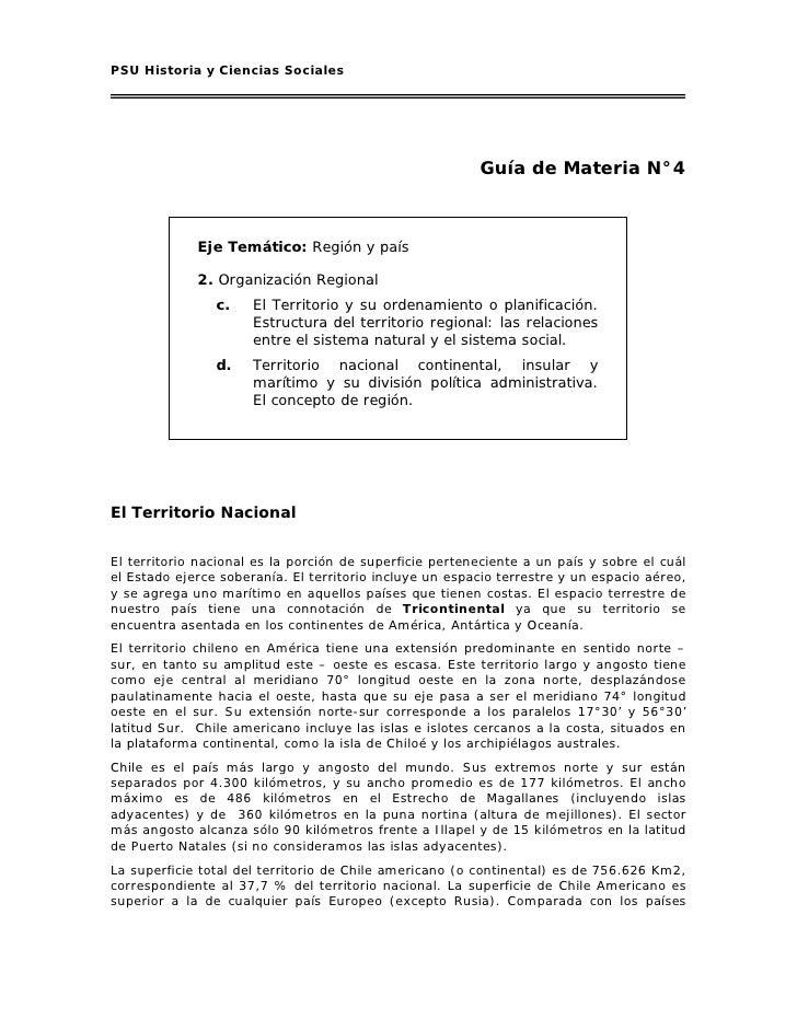 PSU Historia y Ciencias Sociales                                                              Guía de Materia N°4         ...