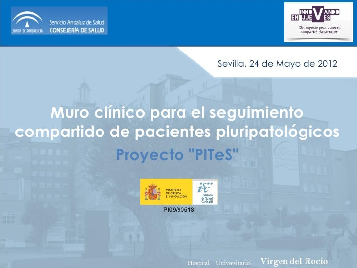 Sevilla, 24 de Mayo de 2012   Muro clínico para el seguimientocompartido de pacientes pluripatológicos            Proyecto...
