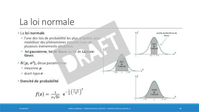 La loi normale • La loi normale • l'une des lois de probabilité les plus adaptées pour modéliser des phénomènes naturels i...