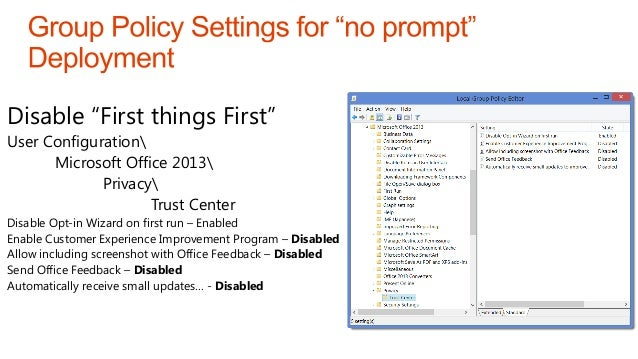 Office 365 ProPlus: Click-to-run deployment and management