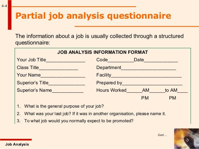 the questionnaire analysis report Job analysis € powered by tcpdf  questionnaire-based ratings in the interpretation of this data € € msp assessment report (v11).