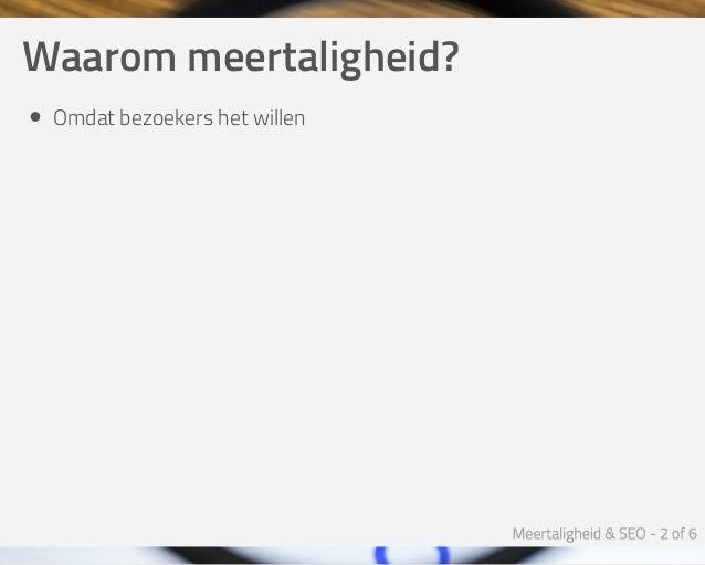 Meertaligheid & SEO - Joomla SEO Expert Sessie Slide 2