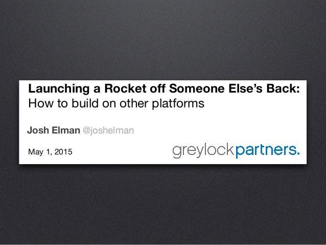 [WMD 2015] Greylock Partners, Josh Elman