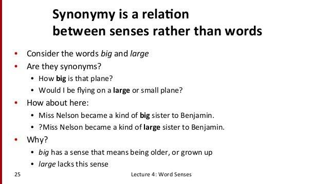 Lecture Word Senses