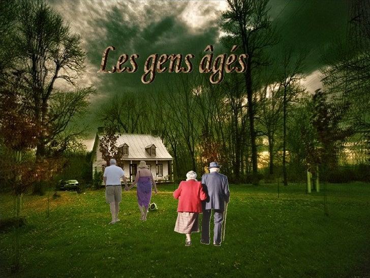 Les gens âgés