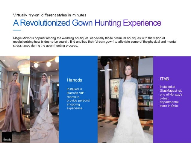 Virtual Try On Wedding Dress Of Magic Mirror For Wedding Boutiques