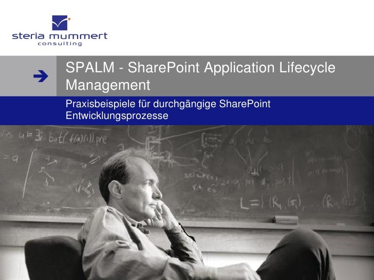  www.steria-mummert.de         SPALM - SharePoint Application Lifecycle    Management     Praxisbeispiele für durchgängi...