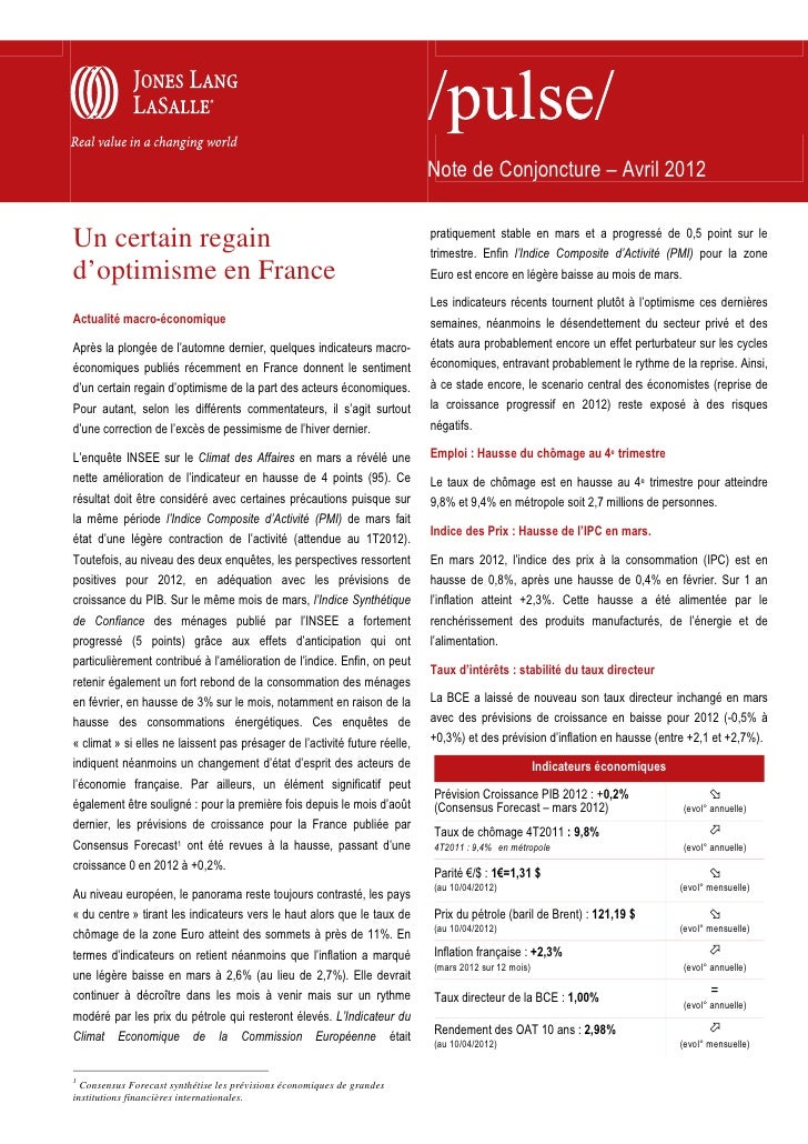 Note de Conjoncture – Avril 2012                                                                                pratiqueme...