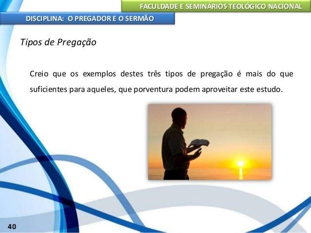 04 o pregador e o sermão