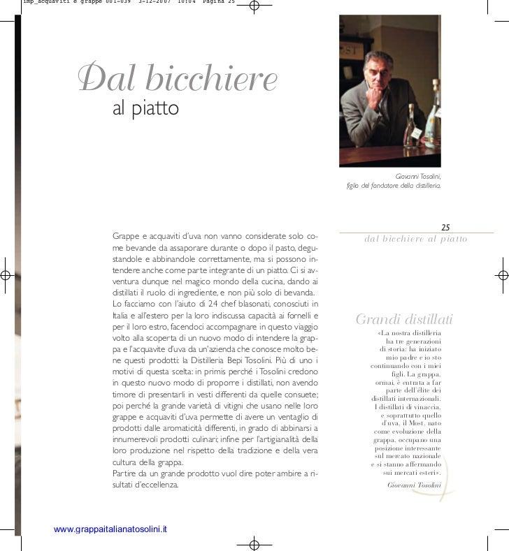 imp_acquaviti e grappe 001-039   3-12-2007   10:04   Pagina 25             Dal bicchiere                        al piatto ...