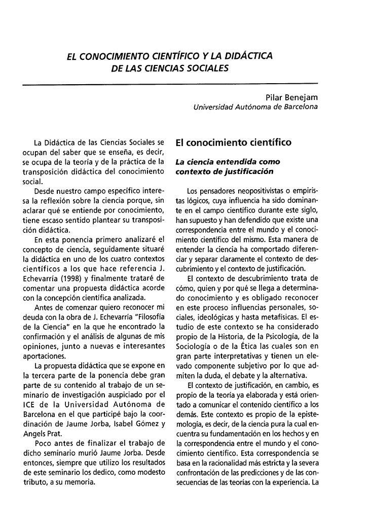 04 – pilar benejam – el conocimiento científico y la didáctica (15 16).