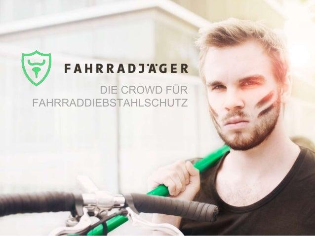 problem SCHADEN Durch Fahrraddiebstahl beträgt über 500 Millionen € p.a. alleine in Deutschland WEG IST WEG Fahrradaufenth...