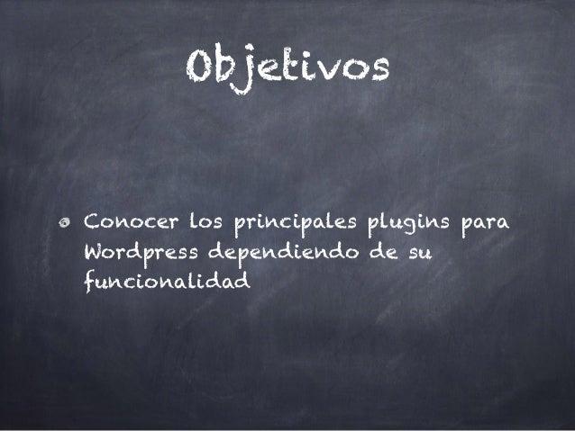 Blog Marketing con Wordpress: Unidad 04 Plugins Típicos Slide 2
