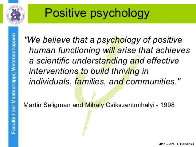 Positive psychology an introduction seligman pdf
