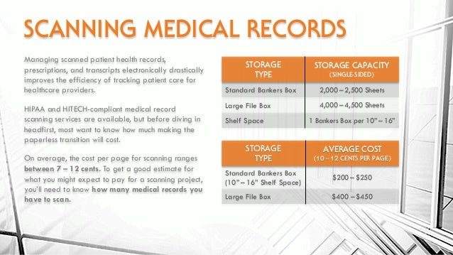 scanning abstracting adding medical records to an ehr