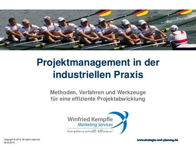 Projektmanagement in der industriellen Praxis Methoden, Verfahren und Werkzeuge für eine effiziente Projektabwicklung  Cop...