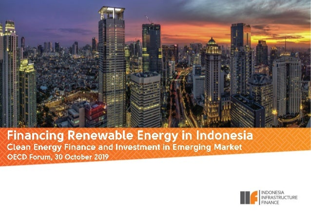 """DISCLAIMER This presentation has been prepared by PT Indonesia Infrastructure Finance (""""IIF"""" or the """"Company"""") exclusively..."""