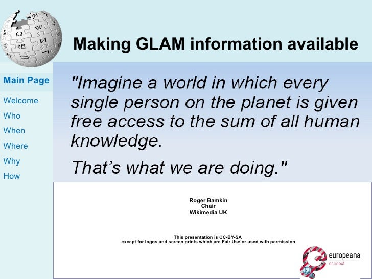 Making GLAM information available inside and outside cultural institutions 5 th  October 2011 – Austrian National Library ...