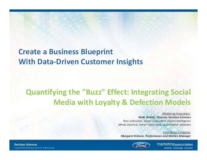 """Create a Business Blueprint      With DataͲDriven Customer Insights                 Quantifying the """"Buzz"""" Effect: Integra..."""