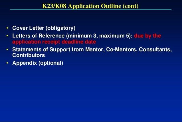 k08 cover letter
