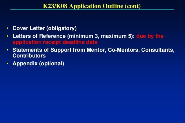 Writing the nih k award k23k08 application spiritdancerdesigns Choice Image