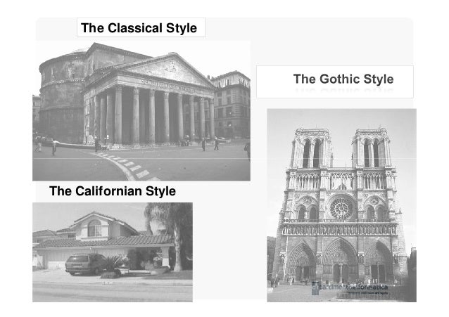Software architecture styles for Main architectural styles