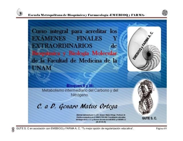 """Escuela Metropolitana de Bioquímica y Farmacología -EMEBIOQ y FARMA- GUTE S. C en asociación con EMEBIOQ y FARMA A. C. """"Tu..."""