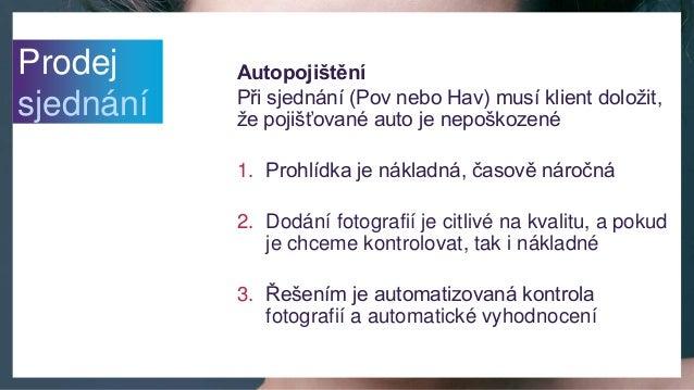 Autopojištění Při sjednání (Pov nebo Hav) musí klient doložit, že pojišťované auto je nepoškozené 1. Prohlídka je nákladná...