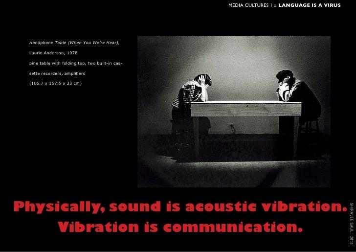Language is a Virus: technologies of Speech Slide 3