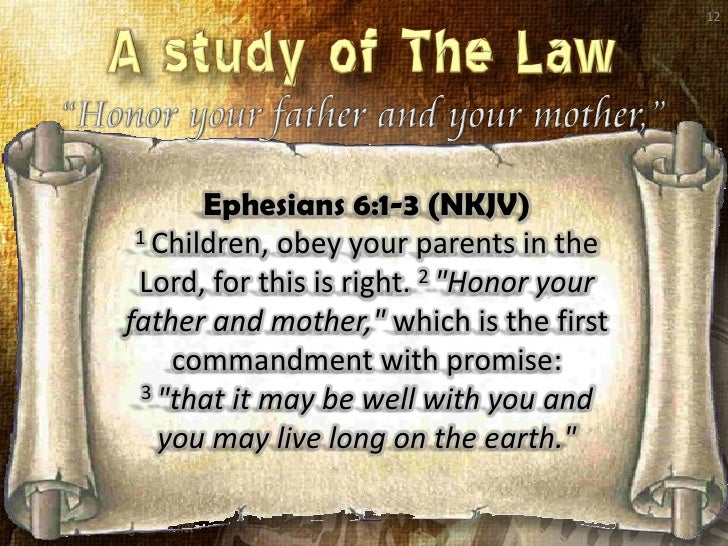 Honor Your Father And Your Mother - The Fifth Commandment - (Lesson F…