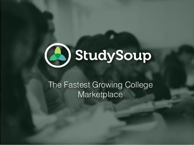 The Fastest Growing College Marketplace