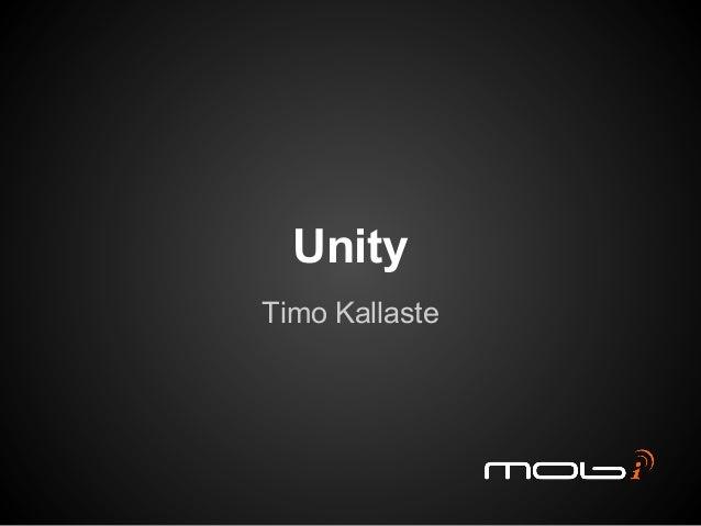 UnityTimo Kallaste
