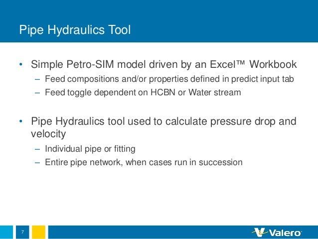 Valero Petro-SIM simple tools