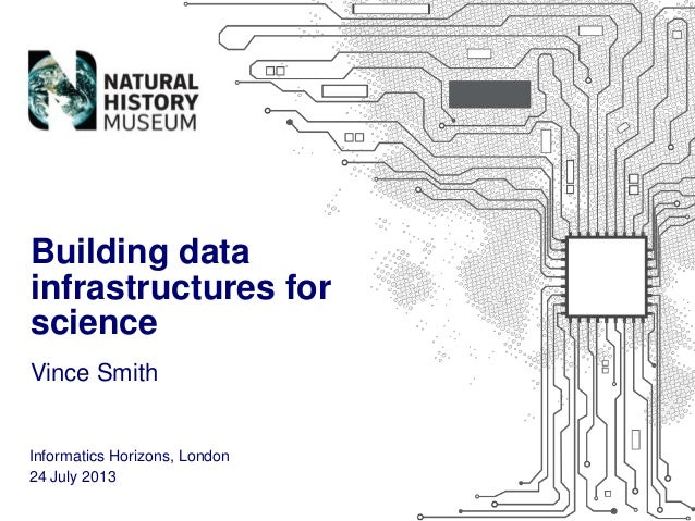 Building data infrastructures for science Vince Smith  Informatics Horizons, London 24 July 2013