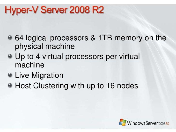 Installing and managing Hyper-V on Windows Server Server Core