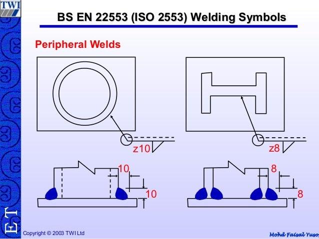 Iso Standards Welding Symbols