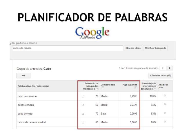 PLANIFICADOR DE PALABRAS