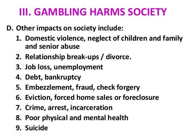 the effects of gambling on the society Gambling impact society 117 likes the gambling impact society is a registered health promotion charity with the aim of raising community awareness.