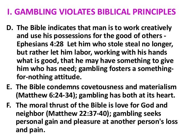 Gambling in the bible is wrong new braunfels jobs online