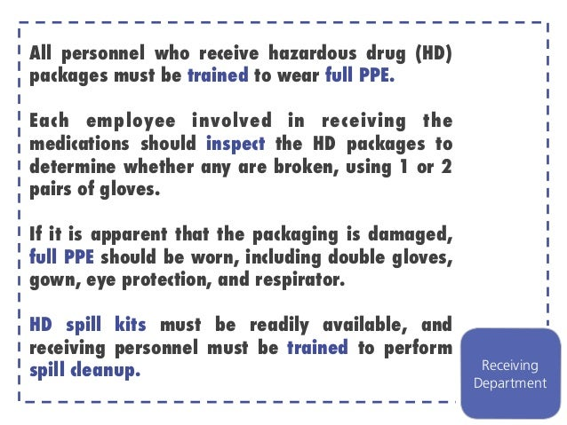 Proper Handling of Cytotoxic Agents