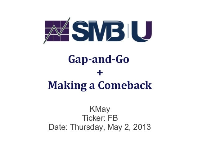 Gap-and-Go+Making a ComebackKMayTicker: FBDate: Thursday, May 2, 2013