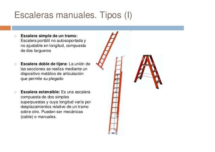 Prevenci n de riesgos laborales seguridad en escaleras for Tipos de escaleras de aluminio