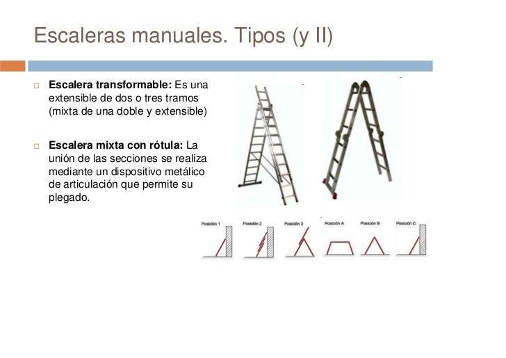 Prevenci n de riesgos laborales seguridad en escaleras - Escaleras tres tramos ...