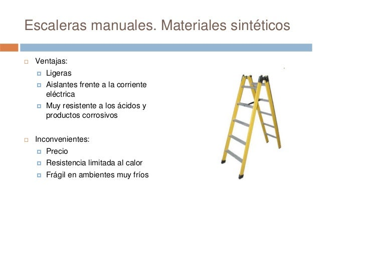 Prevenci n de riesgos laborales seguridad en escaleras for Materiales para escaleras