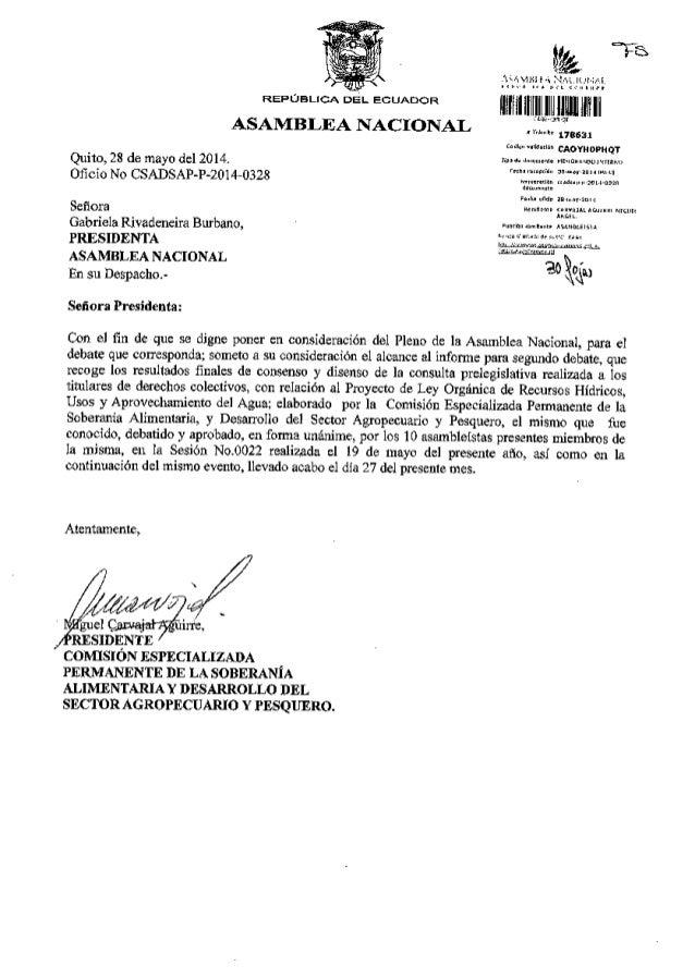 V,b. lllllllillil Ililulflflri CON'trSION ESPECTALIZADA ?ERMANENTE DE LA SoBERANiA ALIMDNTAXIA Y DDSARROLLO DDL SECIIOR AC...